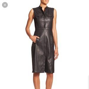 Bcbg maxazria leather pocket mini dress xxs